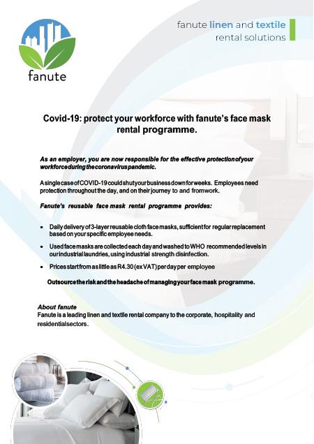 fanute-face-mask-rental-service-corporate-brochure